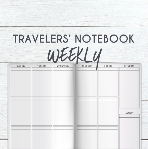 B6 TN -  Printable Weekly Planner Sheet (Undated)