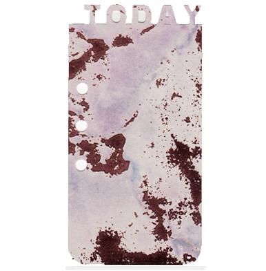 "Laminated ""Today"" Bookmark - Marbled Dreams"
