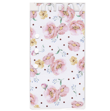 laminated today bookmark spring blossoms front