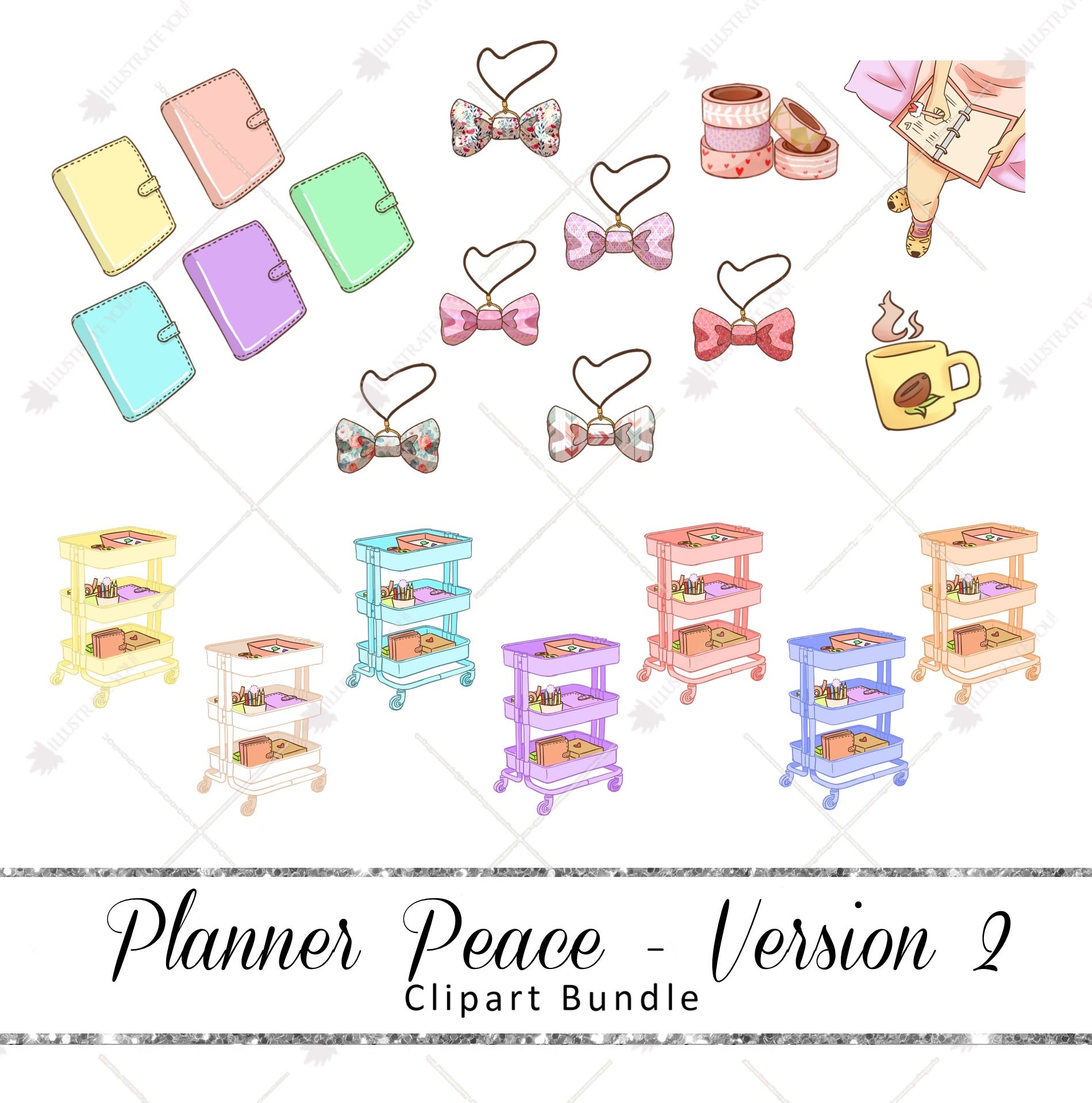 Clipart Bundle - Planner Peace Version 2
