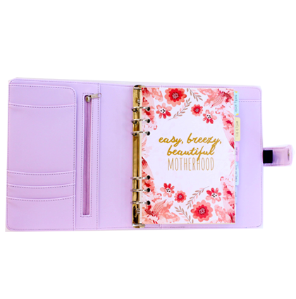 mum planner - periwinkle - front