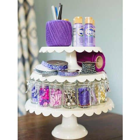 Alternative use of cake stand CraftyBits