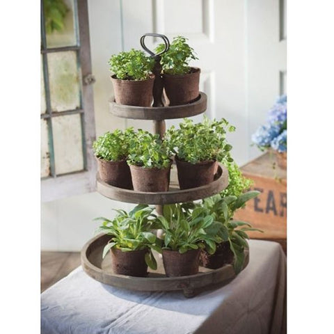 Alternative use of cake stand Herb Garden