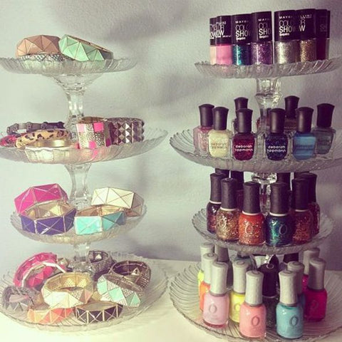 Alternative use of cake stand Nail polish stand