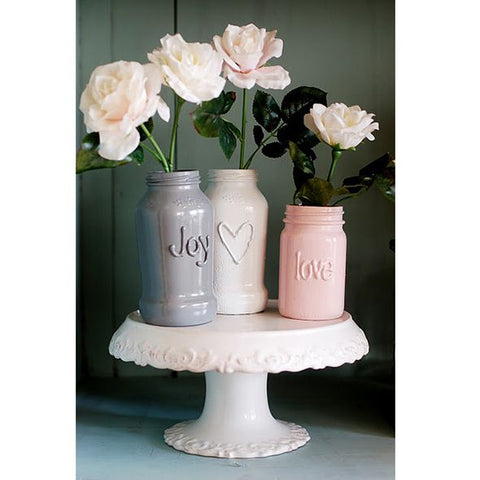 Alternative use of cake stand Vase collection
