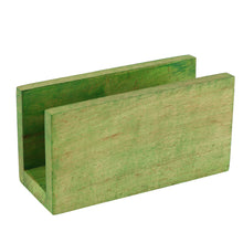 Butterfly Engraved Wooden Napkin Holder (Green) - Navvi Lifestyle