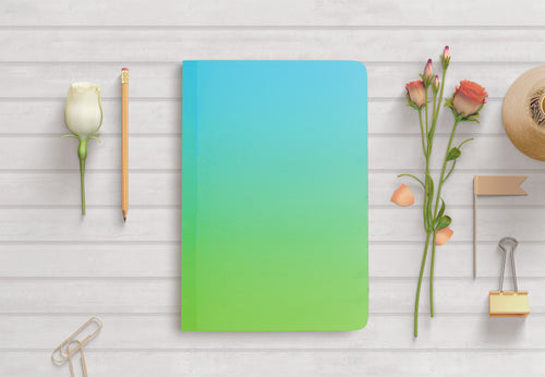 Curio Reversible Notebook - Blue to Green Ombre - Navvi Lifestyle