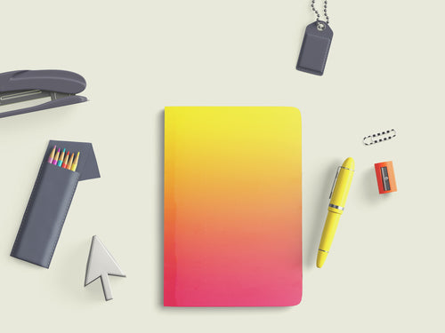 Curio Reversible Notebook - Yellow to Pink Ombre - Navvi Lifestyle