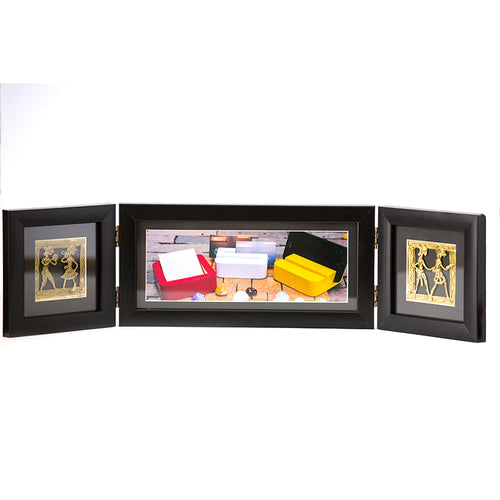 Photo Frame Two Folds Black - Navvi Lifestyle