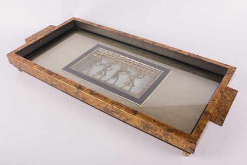 Serving Tray with Gold Leafing - Navvi Lifestyle