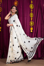 Limpid White Saree - Navvi Lifestyle