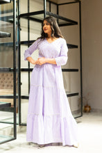 gown, purplegown, navvi, clothing, apparel, festivewear, classy, ruffles, traditionalwear, threequater, gotawork, navvi.in, ethnicwear