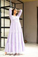 Purple Gown With Gota Detailing