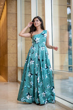 ONE SHOULDER FLORAL AFFAIR GOWN - Navvi Lifestyle
