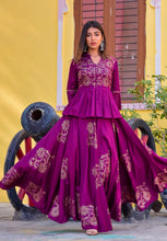 Jaam Silk Lehenga Top Set - Navvi Lifestyle