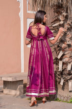 Gota Work Jaam Silk Gown - Navvi Lifestyle