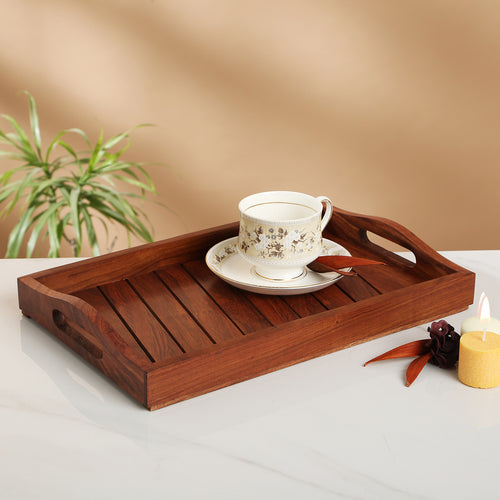 Sheesham Wooden Tray Brown
