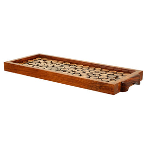 Wooden Cut Pieces Serving Tray