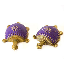 Dhokra Tortoise Table Top Set- Purple - Navvi Lifestyle