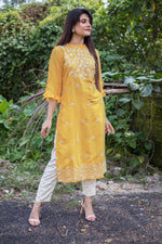 Amber Full Embroidered Kurta With Pearl Pant