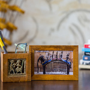 Pen Stand With Photo Frame - Navvi Lifestyle