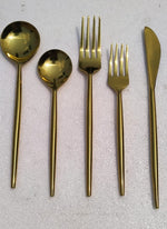 Copper Dipped Spoon Fork Set