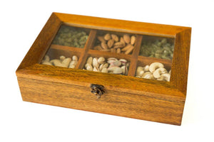 Dry Fruit Box With Six Compartments - Navvi Lifestyle