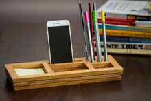 Mango Wood Table Organizer With Post-It Sticky Note - Navvi Lifestyle