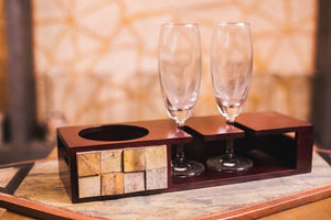 Champagne Tray Small With Glasses - Navvi Lifestyle