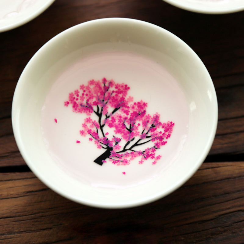 Sakura Cups - Colour Changing Sake Cups With Cherry Blossoms