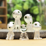 Princess Mononoke's Glowing Kodama Friends (Set of 5 figures)