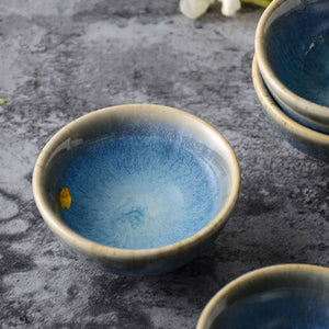 Blue Japanese Sake Set Made In Ceramic
