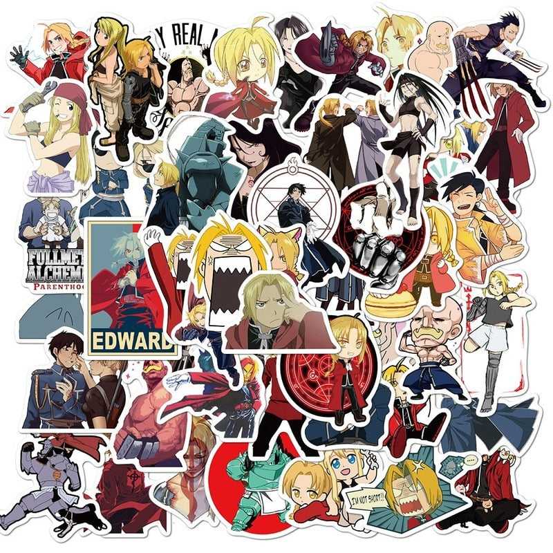 Full Metal Alchemist Stickers - 50 Amazing Stickers To Personalise Your Stuff
