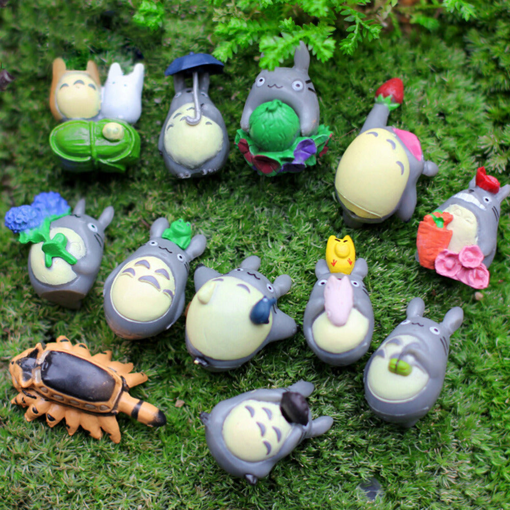Totoro Figures - Set of 12 pieces