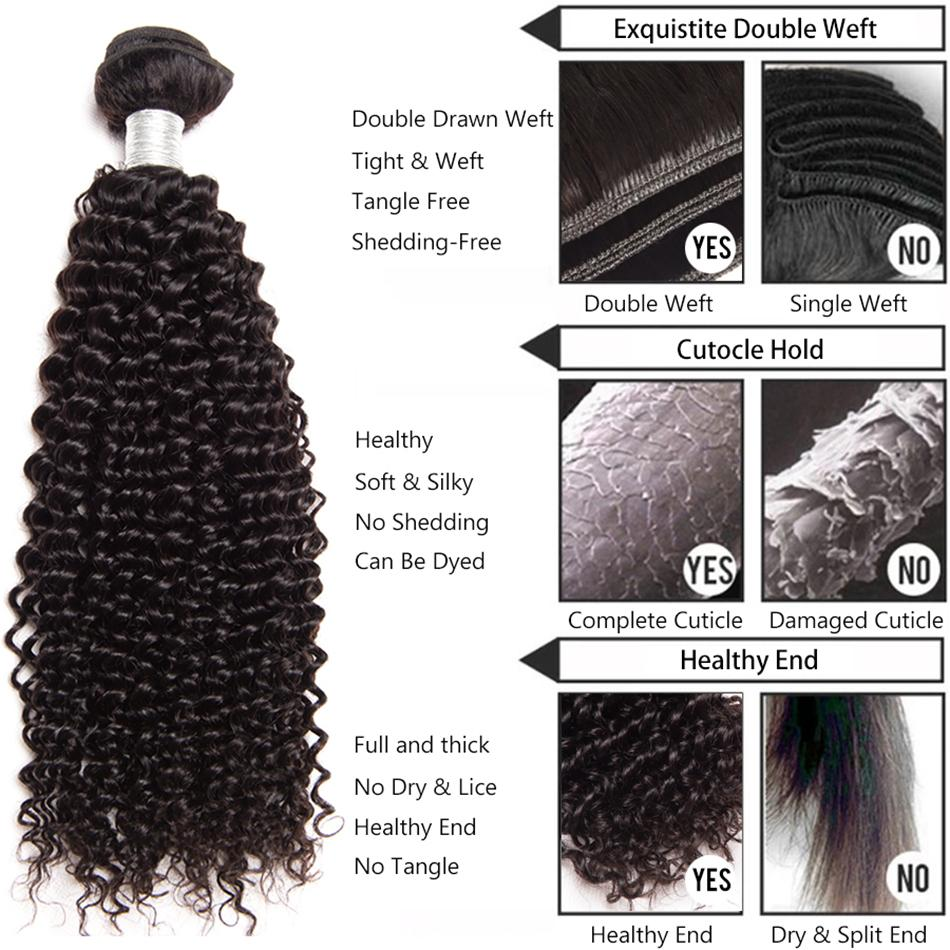 Baby Curly Natural Color 100 Remy Human Hair Weave 1 Bundle 10 30
