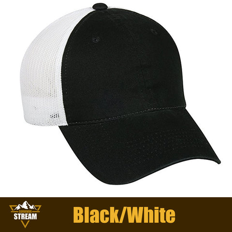 Outdoor Cap Garment Washed Meshback Cap