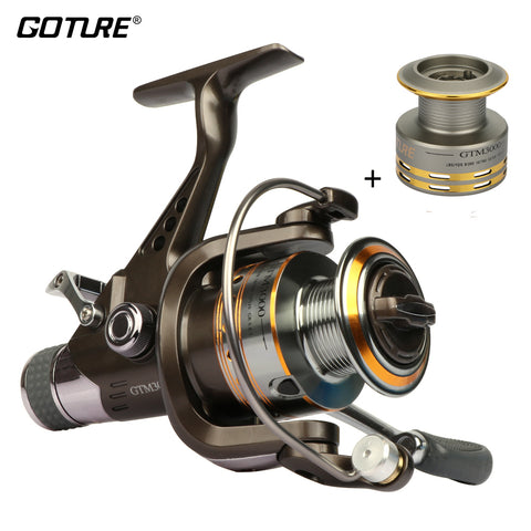 GTM3000 Spinning Fishing Reel  7+1BB Max Drag 12.5kg Carp Fishing Reel With Dual Brake Includes Aluminum Spare Spool