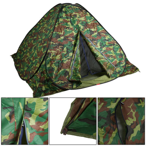 Waterproof Automatic Pop Up Outdoor Camping Tent 3-4 Person Dustproof UV Protected