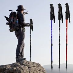 2pcs Adjustable 3 Section Trekking Poles