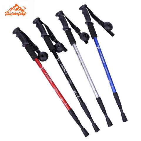 2 Trekking Trail Ultralight 4-section  Anti-Shock Poles