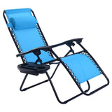 Folding Outdoor Picnic Camping Sunbath Beach Chair with Utility Tray