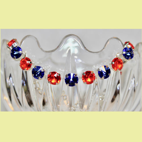 Blue & Orange Swarovski Bracelet (show your Team Spirit)