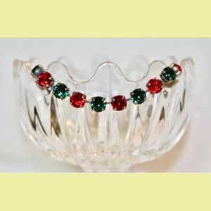 Green & Red Swarovski Bracelet (perfect for Christmas)