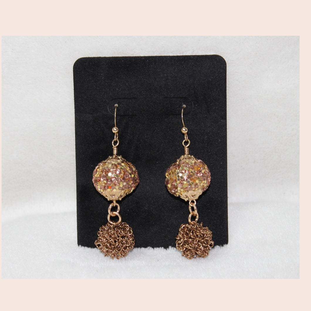 Gold Glitz Earrings
