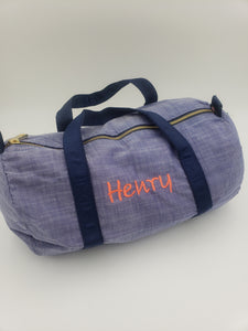 Medium Duffle Bag - Navy Chambray