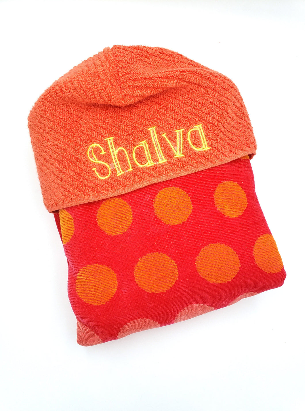 Hooded Towel - Coral Dots