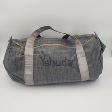 Load image into Gallery viewer, Medium Duffle Bag - Grey Chambray