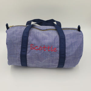 Small Duffle Bag - Navy Chambray