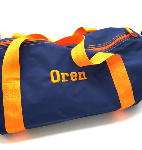 Medium Duffle Bag - Blue/Orange