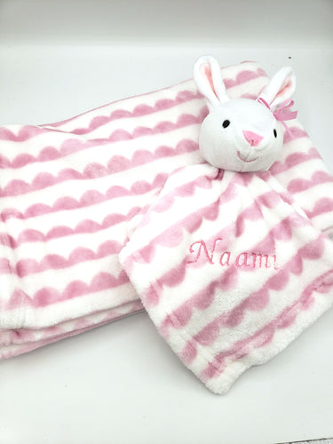Lovey Gift Set Striped Bunny
